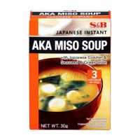 AKA MISO soup with Japanese  croutons , wakame seaweed and green onions S&B 30 g