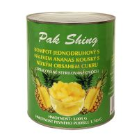 Pineapple pieces with low sugar 3005 g / 1743 g
