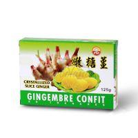 Crystallized slice ginger PSP 125 g