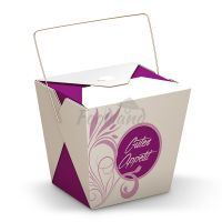 Box-Asia to go- Purple Flower with handle 14307 - 16 OZ
