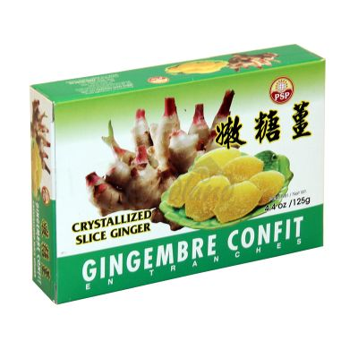 Crystallized slice ginger PSP 125 g